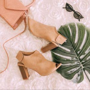 Beige Mule / Heels Sandals
